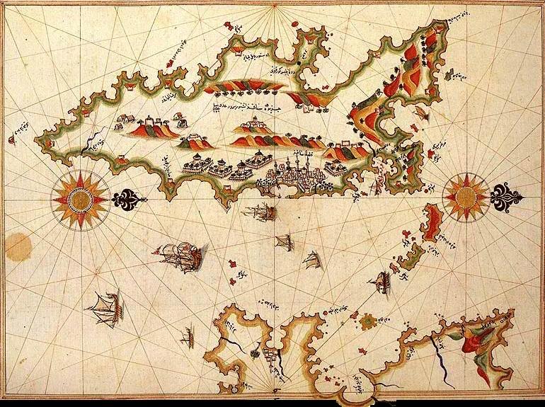 Mappa Isola D'Elba Antica